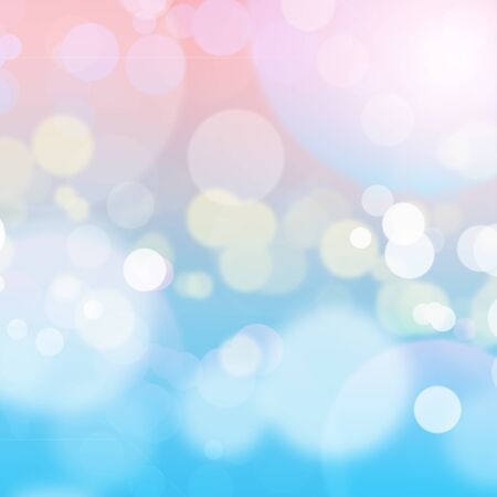 Blurred pink and blue bokeh abstract background with copy space. can be used for display or montage your products. Wallpaper or background.