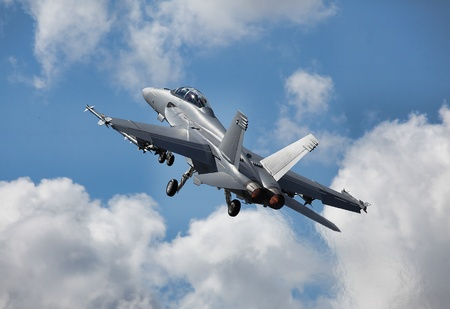 battle plane: Caza a reacci�n Foto de archivo