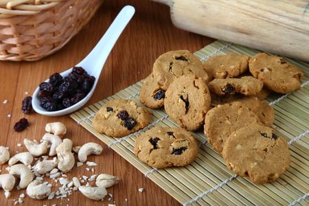 raisin cashew cookies Banco de Imagens