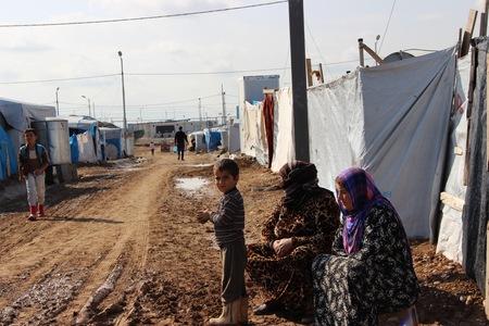 Vluchtelingenkamp in Irak