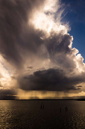 Storm Clouds & Sunshowers Stock Photo