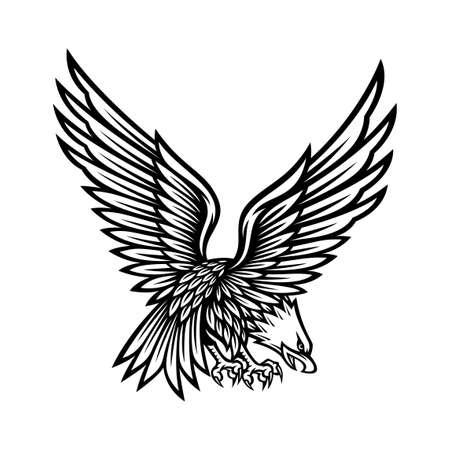 eagle symbol illustration in vintage design