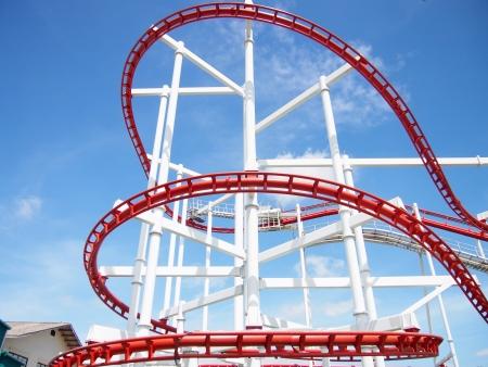 roller coaster:  the roller coaster Stock Photo