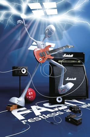 gitar: Technotronic Guitar Player