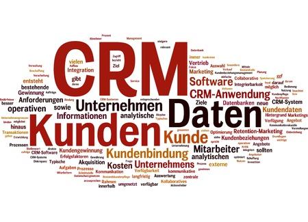 konzept: wörter zum begriff  customer-relationship-management