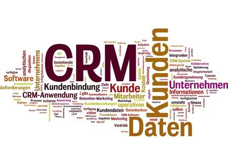 abbildung: wörter zum begriff  customer-relationship-management