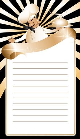 Golden chef menu template Stock Vector - 6447432