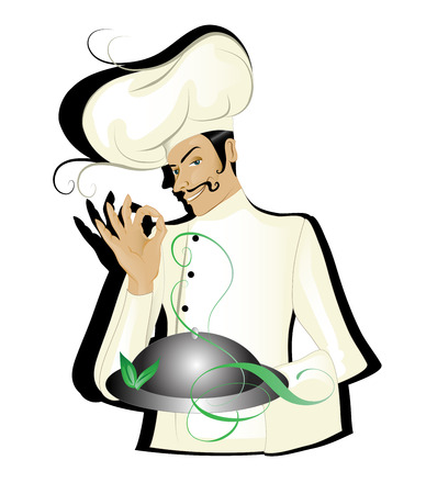 Chef isolated Illustration