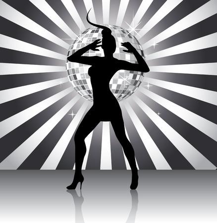 Disco queen silhouette Vector