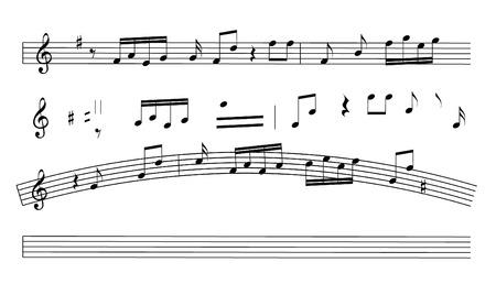 crotchet:   Music notes Illustration