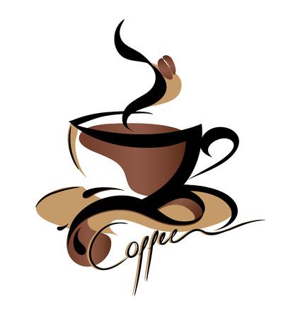 coffee beans: Signo de caf�  Vectores