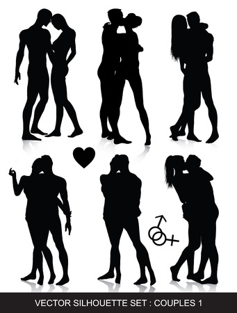 sex couple:   love, couple, sexy, silhouette, valentine, men, woman, kiss, joy, art, sex, hug, date, pose, sign, nude, male, girl, body, adult, flirt, heart, naked, amour, vector, people, female, figure, sexual, person, lovers, erotic, passion, sensual, isolated, mar Illustration