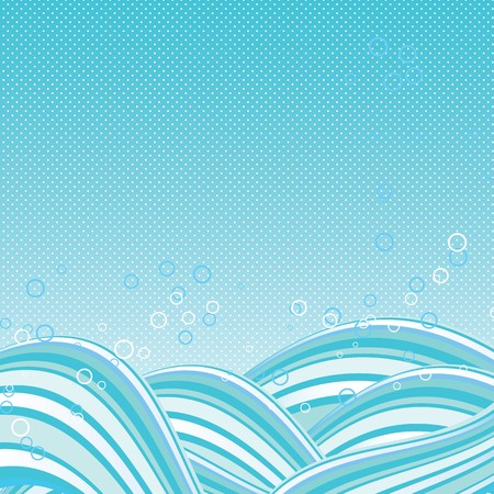Abstract Waves Background Stock Vector - 8055314