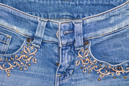 Jeans with embroidery photo