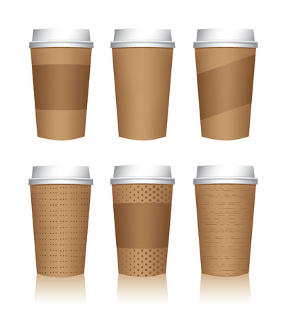 plastic texture: Coffee Cup Templates Illustration