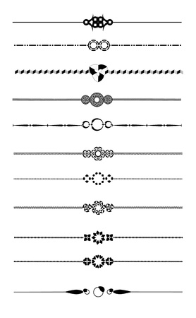 page design: Set of decorative page dividers