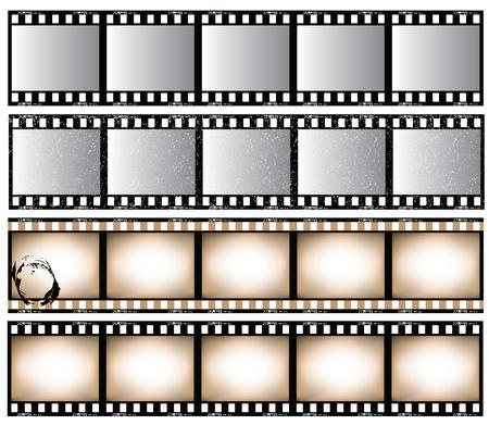 filmnegativ: Film Seitenleisten-Satz.  Illustration