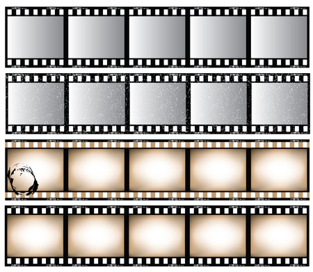 film set: Film strip set.  Illustration