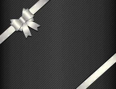 nudos: Cinta de plata en la ilustraci�n de vector de papel de regalo
