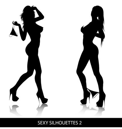 Sexy  silhouettes Stock Vector - 8505724