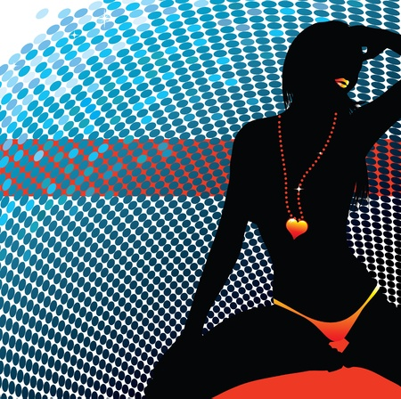 sexy dancer silhouette  Vector