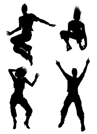 jazz club: Danseuse silhouettes  Illustration