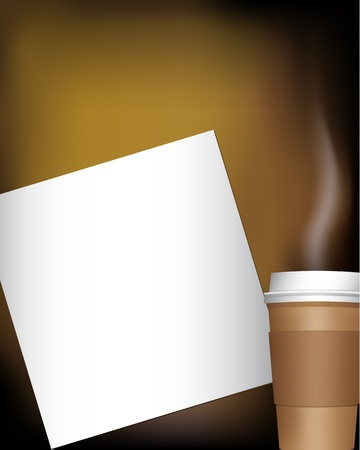 note pad with coffee Stock Vector - 8984171