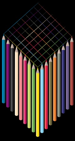 color pencils  Stock Vector - 9151124