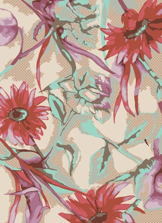 handrawn floral background Vector
