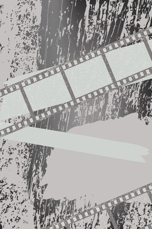 Grunge background with filmstrips Vector