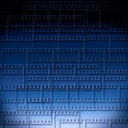 abstract background with film strips photo