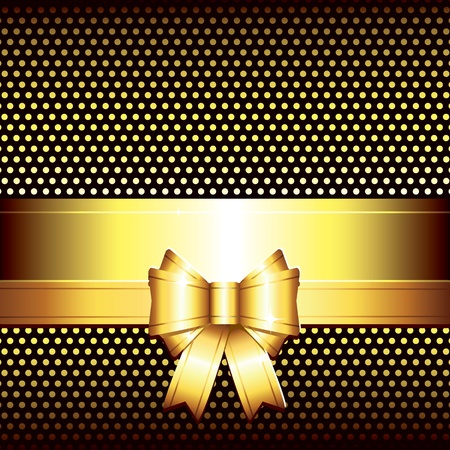 luxury illustration background with golden bow