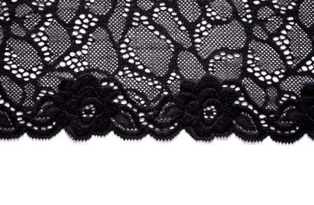 Black lace border with copy space Stock Photo - 9424009