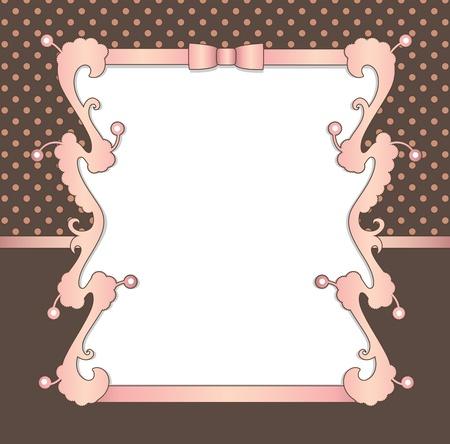 lazo rosa: Fondo Vintage  Vectores