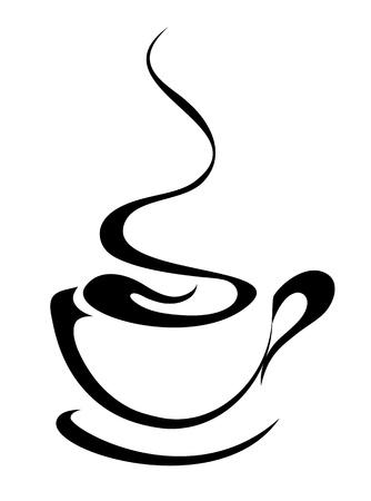 kroes:  koffiekopje  Stock Illustratie