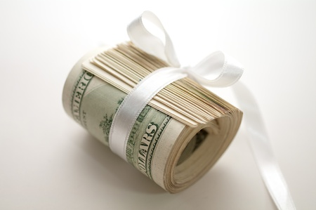 money packs: dollars  Stock Photo