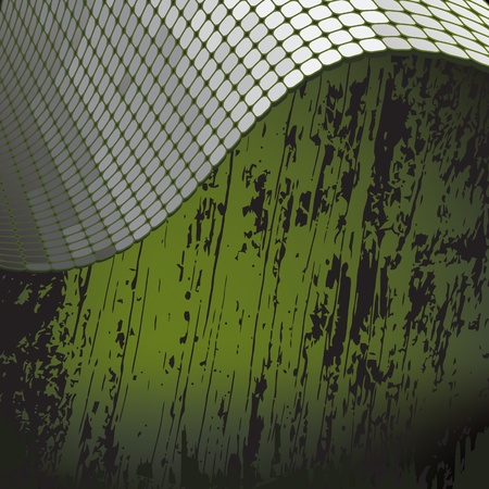 grunge background with shiny metallic border Vettoriali