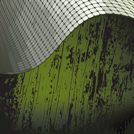 grunge background with shiny metallic border Illustration
