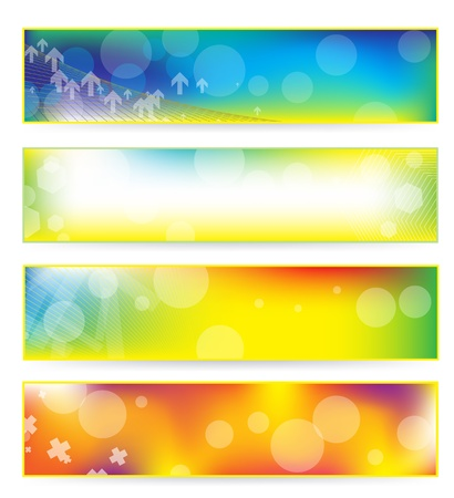 abstract colorful banner set  Banco de Imagens