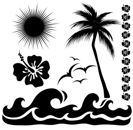 hawaiana: siluetas de verano