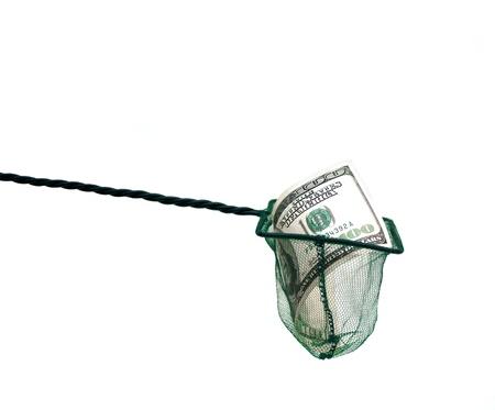 money in fishing net photo