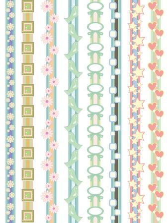 beautiful border designs  Stock Vector - 10224480