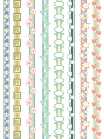 beautiful border designs  Vector