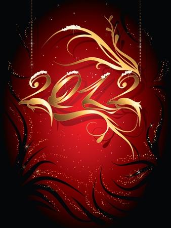 Golden New Year 2012 Stock Vector - 10609654