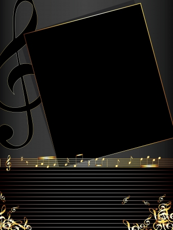 musical note: music  background  Illustration
