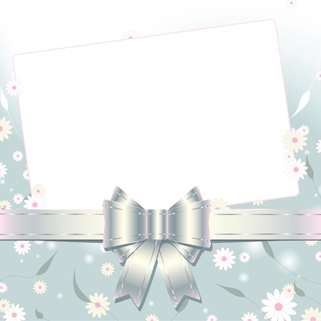 floral  background  with greeting card  Vector