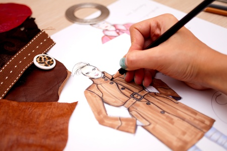 Fashion designer Foto de archivo