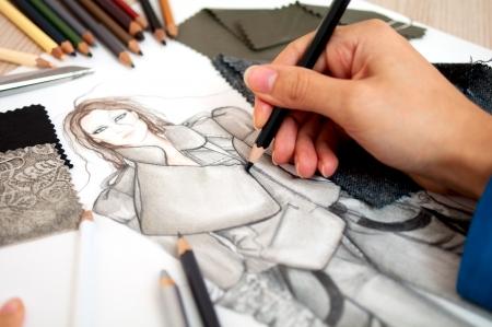 bocetos de personas: Dise�ador de modas