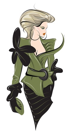 hair accessories: Hand drawn fashion vector illustration