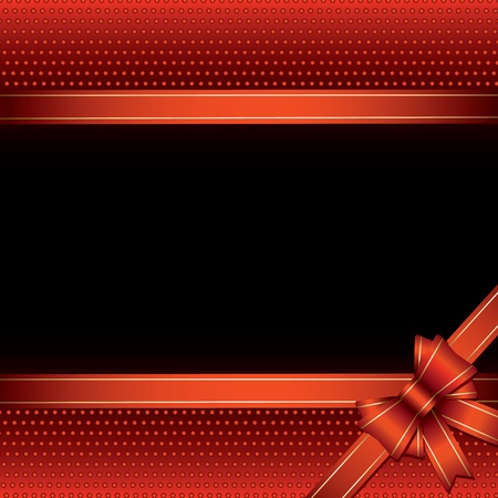 background with red bow for your text Vector